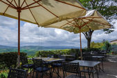 View from a restaurant in Pienza — Stock Photo