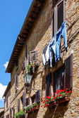 Buildings in Pienza town — Foto de Stock