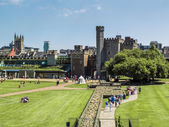 The gounds of Cardiff Castle — Stock Photo