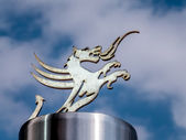 Welsh Dragon at the Millennium Stadium Cardiff Arms Park — Foto de Stock
