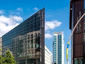 современная архитекту в центре города кардифф — Стоковое фото