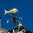 Stock Photo: London's Flyin' Fish weathervane