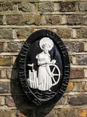 Plaque of St Katherine by the Tower church — Stock Photo
