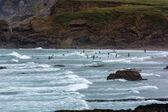 Rocky coastline at Bude — Stock Photo