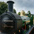 Stock Photo: Partial view C Class steam engine at East Grinstead