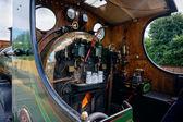 Close-up do motor a vapor classe c detalhe em grinstead leste — Fotografia Stock