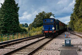 Bluebell steaming into East Grinstead station — Stok fotoğraf