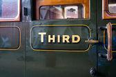 Third class carriage door and window — Stock Photo