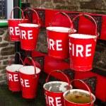 Fire buckets — Stock Photo