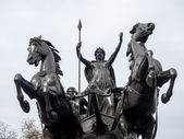 LONDON UK MARCH 2014 - View of Boudicea Statue — Stock Photo