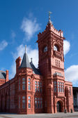 CARDIFF UK MARCH 2014 - View of the Pierhead Building Cardiff Ba — Stock Photo