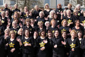 CARDIFF UK March 2014 - The Rock Choir supporting Sport Relief d — Stock Photo
