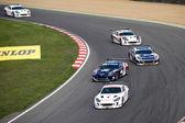 Michelin Ginetta GT4 Supercup race March 2014 — Stock Photo
