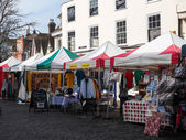 View of the Street market in Faversham — Stock Photo