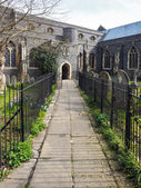 View of St Mary of Charity Church in Faversham Kent on March 29, 2014 — Stock Photo
