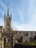 View of St Mary of Charity Church in Faversham Kent on March 29, 2014 — Стоковое фото