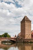 Bridge over a canal in Strasbourg — Stockfoto
