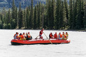 Whitewater rafting on the Athabasca River — Stock Photo