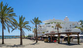 View of the beach at Marbella — Stock Photo