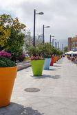 Massive flower pots in Benalmadena Spain — Stock Photo