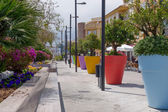 Massive flower pots in Benalmadena Spain — Stock Photo