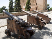 Cannons at Alhambra palace — Stock Photo