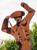 Pomnik banderillero naprzeciwko plaza de toros bullri — Zdjęcie stockowe