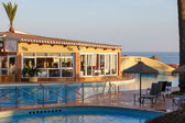 Evening sunshine at Dona Lola holiday resort Calahonda Spain — Stok fotoğraf