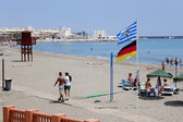 Beach scene at Benalmadena — Stockfoto