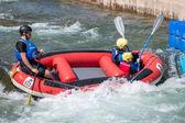 在加的夫国际白色水上中心水上运动 — 图库照片