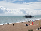 View of the derelict pier in Brighton — Stock Photo