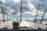 View of the O2 building from the River Thames — Stock Photo