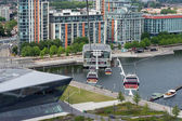 View of the London cable car over the River Thames — Stock Photo