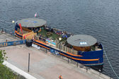 Floating bar in Docklands — Stock Photo