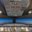 Постер, плакат: Airbus A 380 800 flight simulator