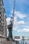 Old dockside crane — Stock Photo