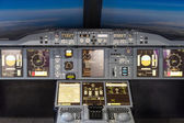 Airbus A-380-800 flight simulator — Stock Photo