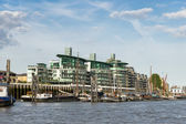 Thames barges moored on the River Thames — Stockfoto