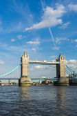 View of Tower Bridge from the River Thames — Stock Photo