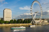 View of the London eye — Stock Photo