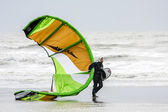Kite surfer at Winchelsea in Sussex — Stock Photo
