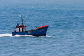 Anjo do Mar fishing boat putting out to sea off Madeira  — Stockfoto