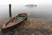 Rowing boat at Lake Orta in Italy — Stock Photo