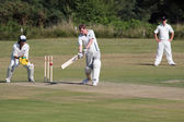 Village cricket being played at Coleman's Hatch — Stock Photo