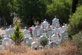View of a cemetery in a Cypriot village — Stock Photo