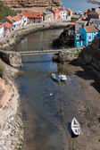High Angle view of Staithes — Stok fotoğraf