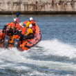 RNLI lifeboat display in  Staithes — Stock Photo #49880571