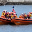 RNLI lifeboat display in  Staithes — Stock Photo #49880681