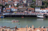 Exit from Whitby Harbour in North Yorkshire — Stock Photo