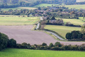 The rolling Sussex countryside near Brighton — Stock Photo